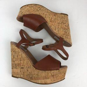 Steve Madden Korkey wedge heels size 9.5